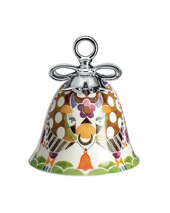 Alessi MW40 4 Mucca Decorazione Natalizia in Porcellana, Multicolore