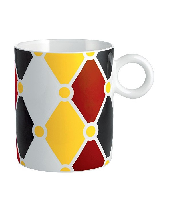 Alessi MW58 1 Circus Mug in Bone China, Multicolore