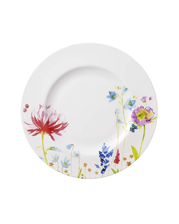 Villeroy & Boch Anmut Flowers Piatto Piano, 27 cm, Porcellana Bone China,, 29.200000000000003x29.200000000000003x8.5 cm