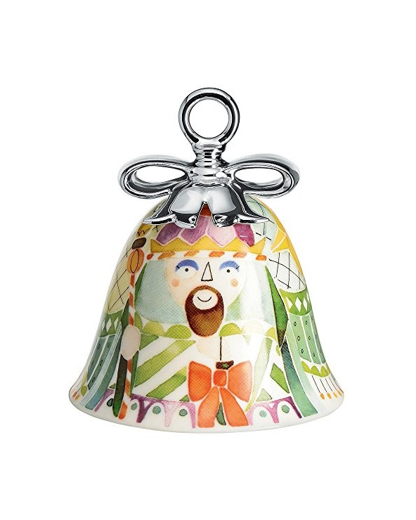 Alessi MW40 9 Melchior Decorazione Natalizia in Porcellana, Multicolore