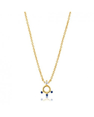 Ania Haie Collana Donna argento 925 placcato oro 14k Connect The Dots