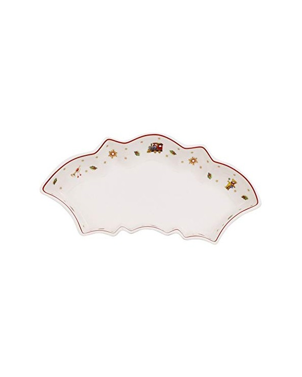 Villeroy & Boch Toy's Delight Mezza Coppa, Porcellana, Bianco, 26x11.5x0.1 cm