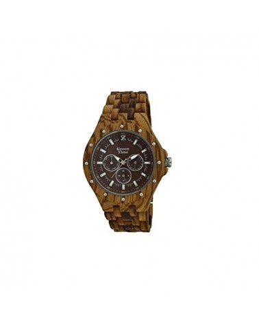 Orologio legno Wood Watch Green Time by ZZERO - Multifunction - ZW039D