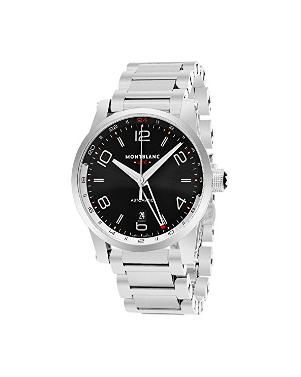 Montblanc Men's Timewalker 43mm Steel Bracelet & Case Automatic Watch 109135