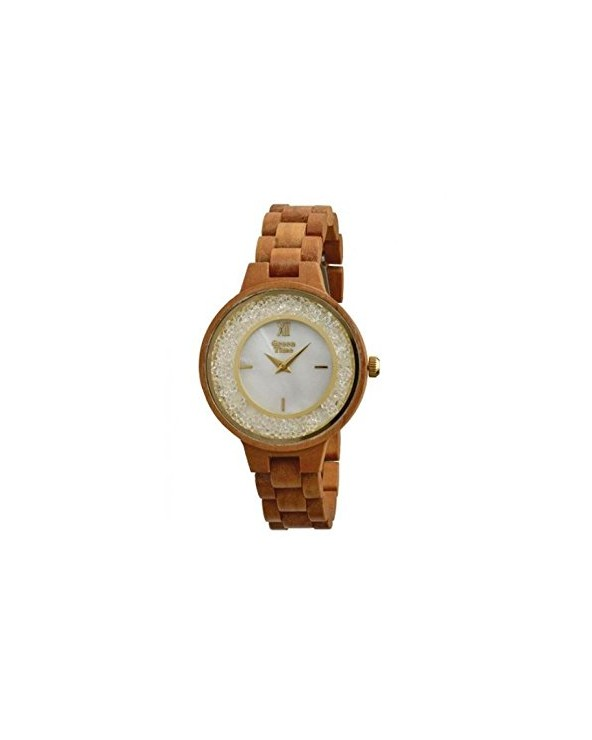 Orologio donna in legno Green Time by Zzero Strass ZW082A Ciliegio