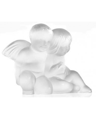 Lalique Twin Angels ornament Clear