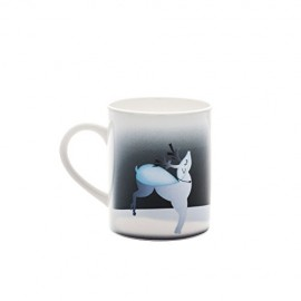 Alessi Blue Christmas AAA06 2 Mug, Bone China, Blu/Bianco, 8x8x9.50 cm