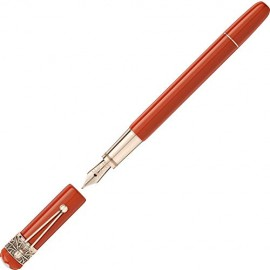 Montblanc Heritage Collection 118232 - Penna stilografica Rouge et Noir Spider Metamorphosis Special Edition Coral