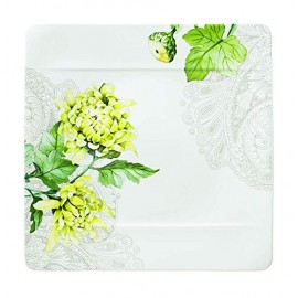 Villeroy & Boch 10-4380-2610 Quinsai Garden Piatto Piano, Porcellana Bone China, 27x27x8.5 cm