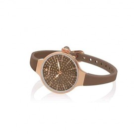 Orologio Donna Chérie Diamond 160 Rose Gold Marrone Hoops