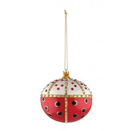 Alessi MJ16 8 Re Coccinello Decorazione in Porcellana Decorata a Mano, Multicolore