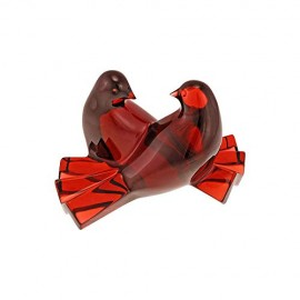 Baccarat Crystal Loving Doves Ruby Figurine 2102796 by Baccarat