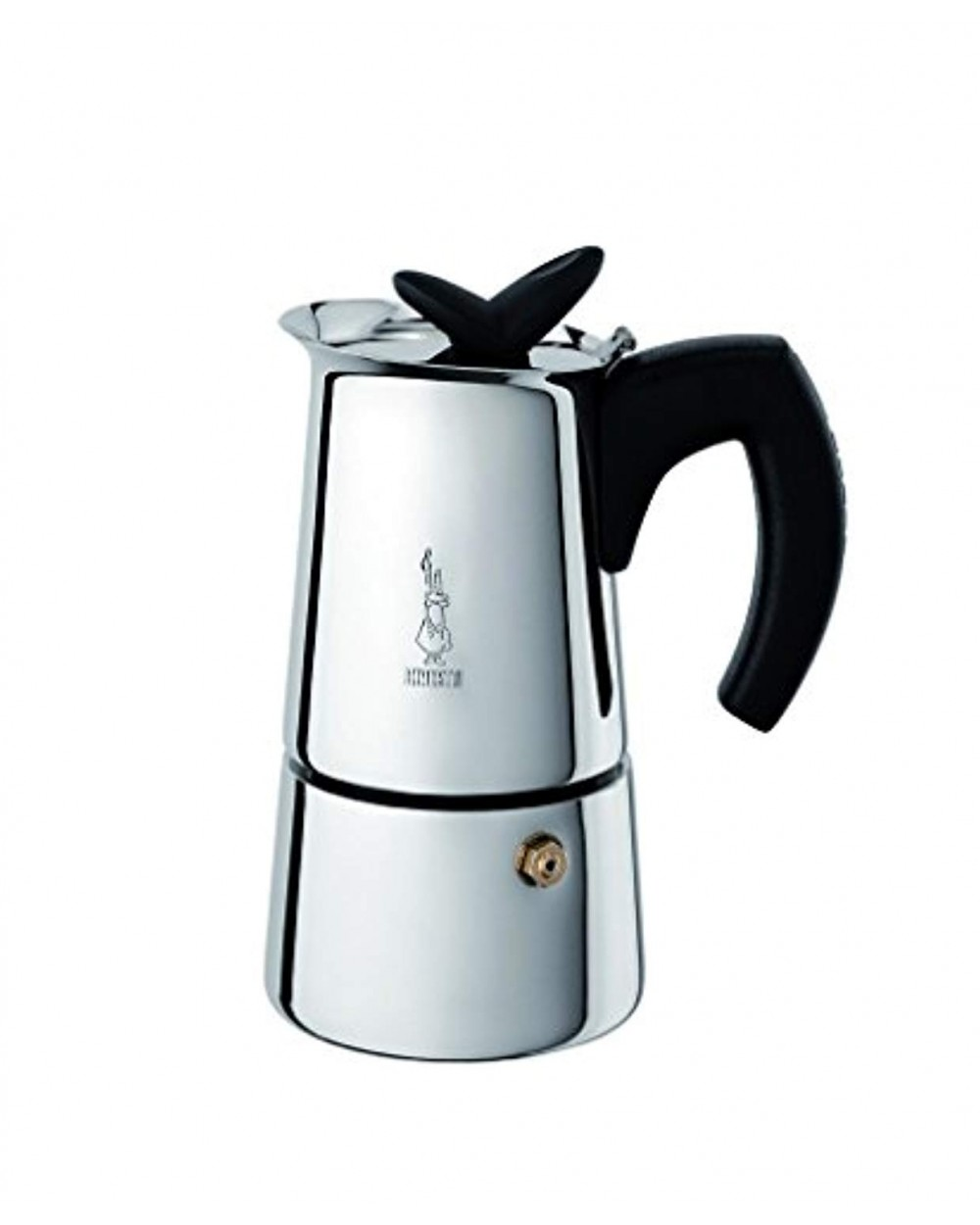Bialetti Musa - Stove Top Restyling Espresso Coffee Maker - Stainless Steel - Various Sizes